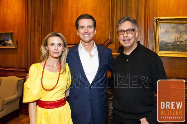 Governor Gavin Newsom, Jennifer Siebel-Newsom, David Villa-Lobos